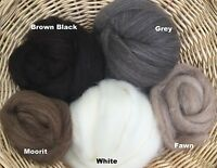 Shetland Wool 2 Oz. Combed Top Natural Color Roving Spin From Ashland Bay