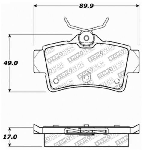 Disc Brake Pad Set-Sport Brake Pads Rear Stoptech fits 94-04 Ford Mustang