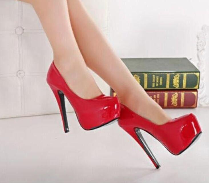 Sexy Womens pump shoes high heels platform round toe fashion stilettos shoes