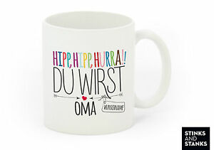 tasse becher kaffeetasse oma opa werdende gro eltern mit name ebay. Black Bedroom Furniture Sets. Home Design Ideas