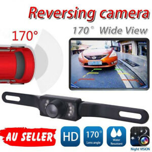 Car Rear View Reversing HD Camera Back Up Parking Plate Night Vision 8 CREE LED