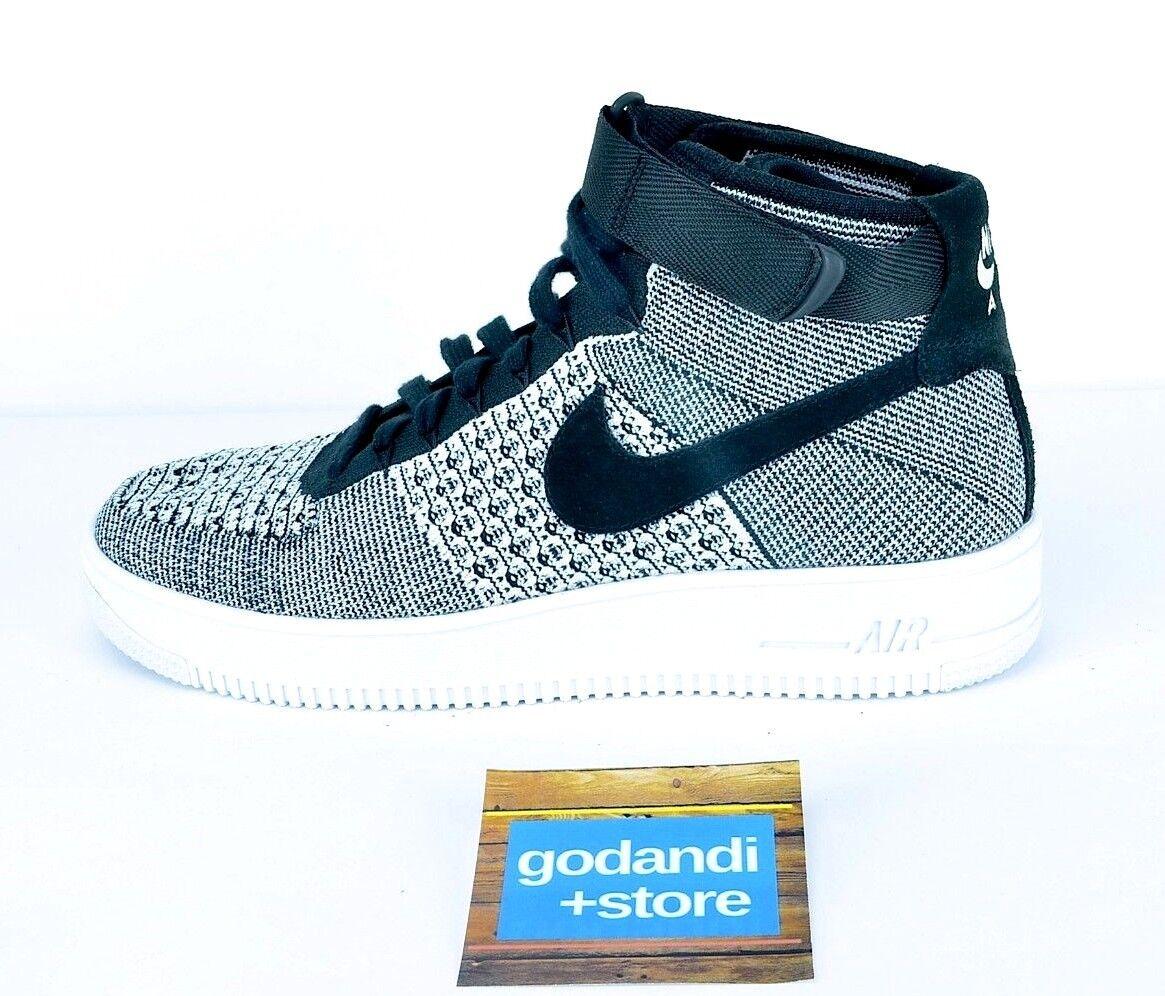 Nike hombre zapatos 1 SZ 10 Air Force 1 zapatos ULTRA Flyknit mediados de Oreo 817420-005 blanco negro 426eaa