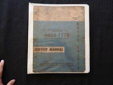 Original 1970s Wabco 666b 777b Motor Road Grader Service Repair Manual Galion