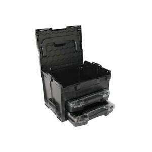 Sortimo-Systemkoffer-LS-Boxx-306-schwarz-Industrial-Line-mit-2-x-i-Boxx-72