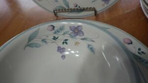 "Dinnerware set April by PFALTZGRAFF service for 6 Fluted 9"" serving bowl EUC 19p"
