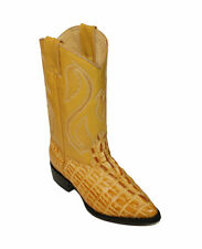 Women's Cowgirl Crocodile Embossed Print Genuine Cow Hide Leather Western Boots