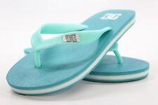 New DC SHOES Girls Spray Flip Flop Sandals Size 1Y Ocean Blue BW1