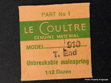 Jaeger LeCoultre Mainspring Part #1 - Model 910 New Old Stock