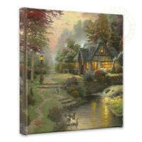 Thomas Kinkade Stillwater Cottage 14 X 14 Gallery Wrapped Canvas