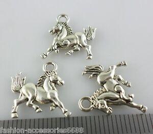 60500pcs tibetan silverbronze horse charms pendants jewelry making image is loading 60 500pcs tibetan silver bronze horse charms pendants mozeypictures Images