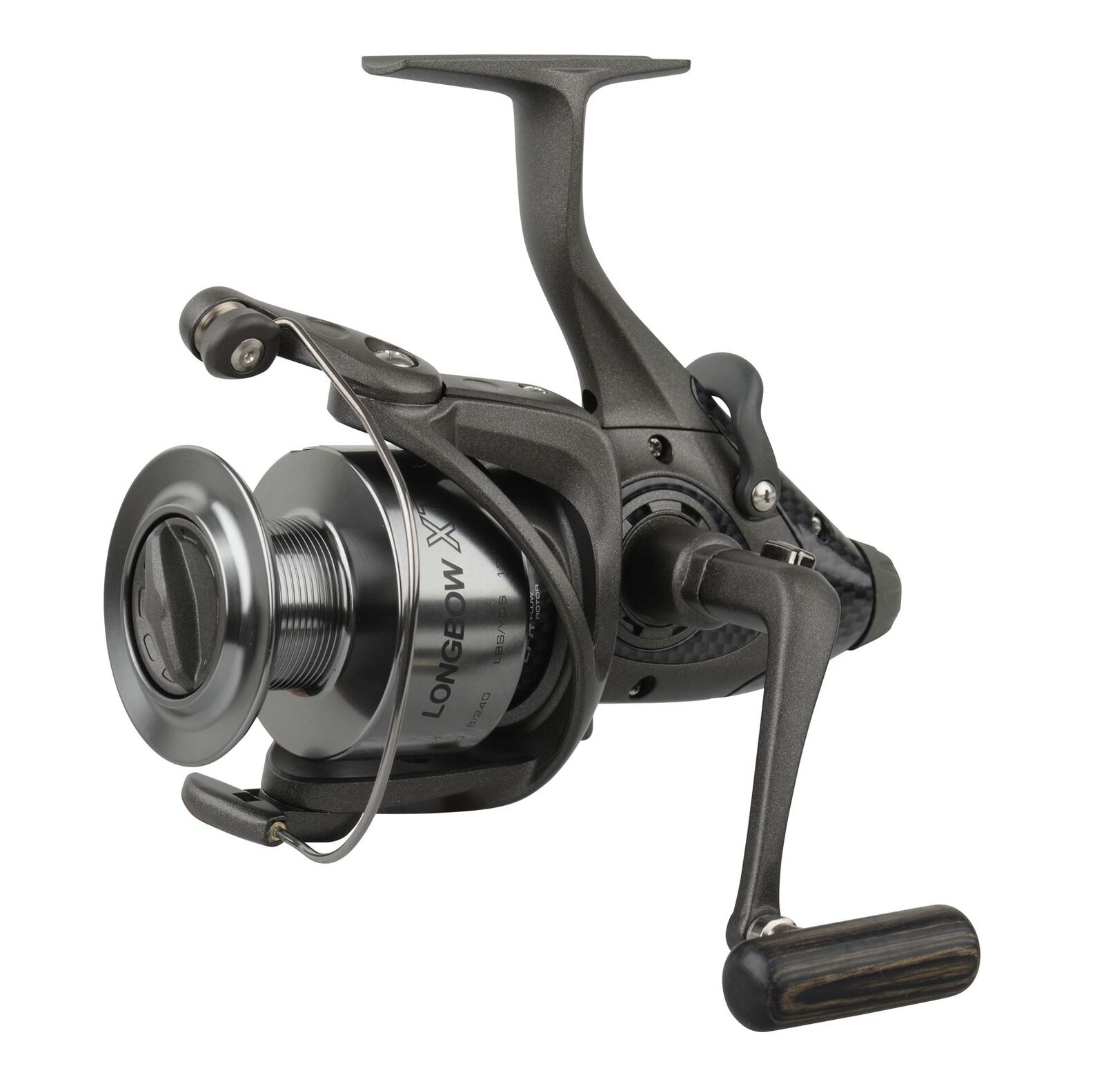Okuma Longbow XT Baitfeeder Fishing Reel LBXT-655 5+1bb Graphite Spool 54212