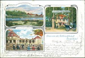 Ansichtskarte Schlosswirtschaft Seckenheim 1901 (Nr.719) - Eggenstein-Leopoldshafen, Deutschland - Ansichtskarte Schlosswirtschaft Seckenheim 1901 (Nr.719) - Eggenstein-Leopoldshafen, Deutschland