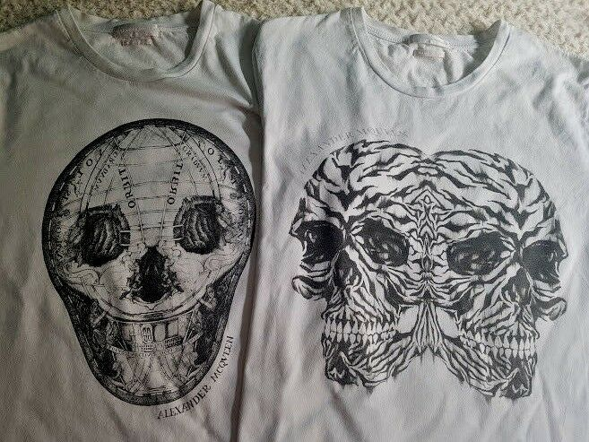 ️Alexander McQueen lot two Skull Shirt Embedded  White Mens Sz Medium