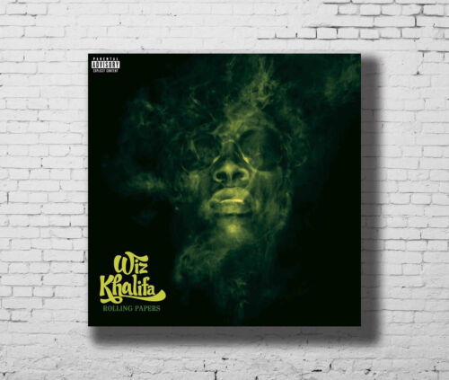 Wiz Khalifa Rolling Papers Hot Music Rapper New Album Cover Fabric Poster E-979