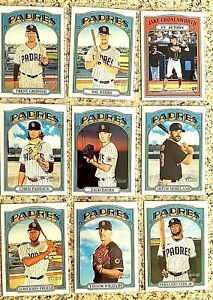 Lot of 9 2021 Topps Heritage San Diego  PADRES Baseball cards,Fernando Tatis Jr