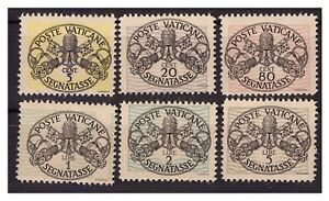 VATICANO-1945-SEGNATASSE-7-12-serie-nuova