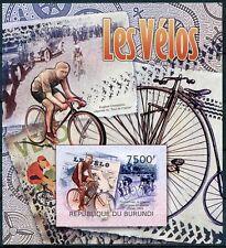 BURUNDI 2012 MNH SS, Cycling, Sports, Imperf, Newspaper  -SP5