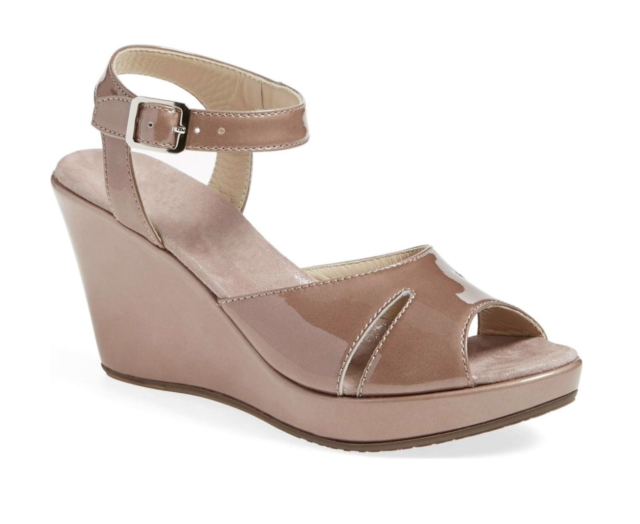984a77ae76f AGL Attilio Giusti Leombruni Platform Taupe Wedge Sandal Women s Size 10.5  1119