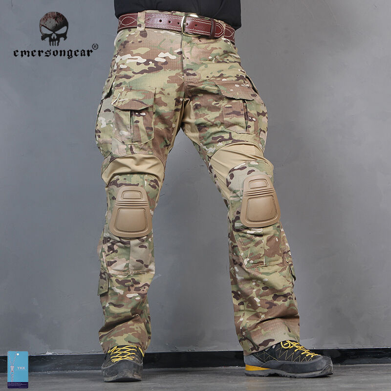 Emerson G3 Combat Pants w  Knee Pads Airsoft Wargame Trousers MultiCam Military