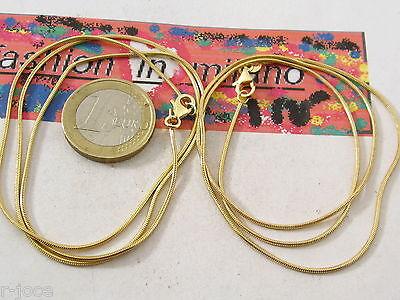 1 catenina in argento placcato oro nero modello codina di topo lunga 50 cm italy