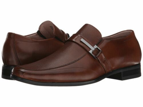 Stacy Adams Mens Beau Moc Toe Bit Slip On Cognac Leather Dress Shoe 24692-221