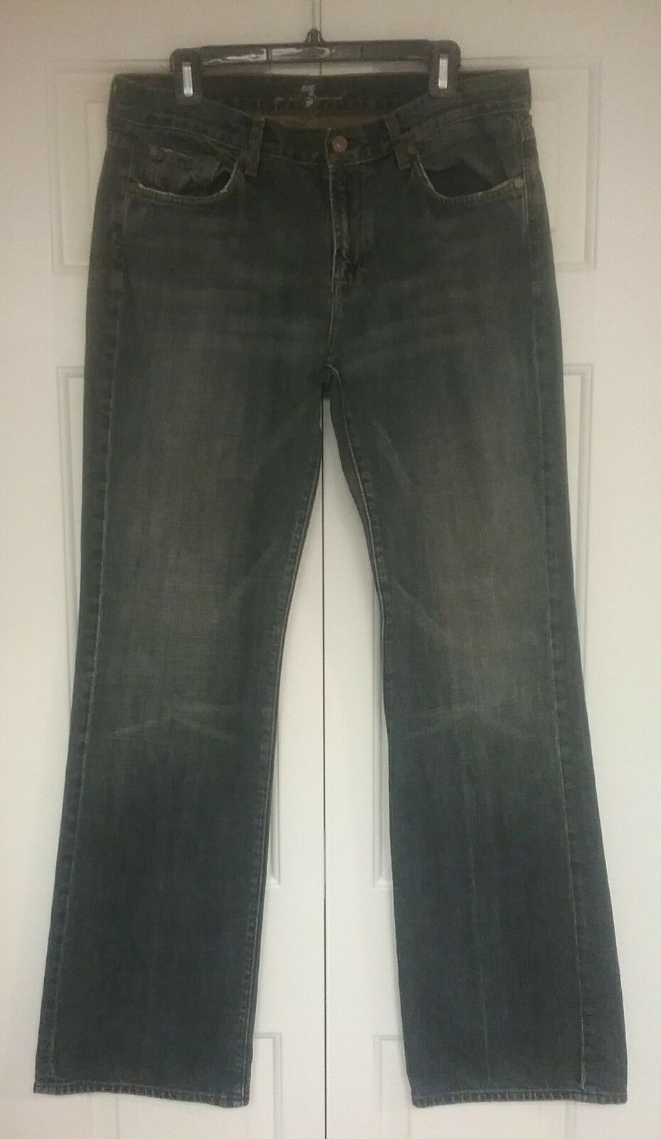 7 For All Mankind Men's Jeans Bootcut Made in USA Cotton Sz 33 Inseam 34