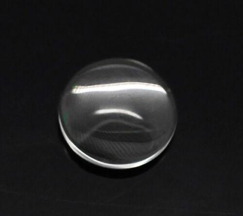 500 Klar Rund Cabochon Glaskuppel Klebstein Glasstein 12mm