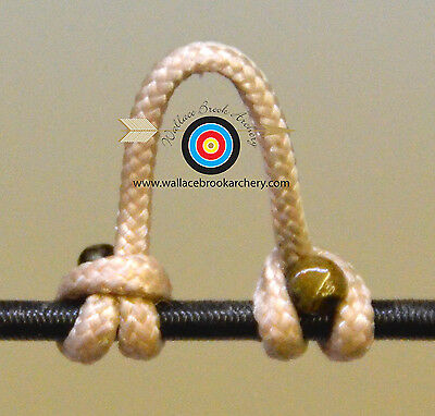 2MM 3 Pack PINK  Archery Release Bow String Nock Bowstring BCY D LOOP #24