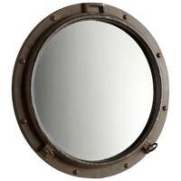 Coastal Nautical Porthole Mirror Decorative Round Wall Beach Ocean Decor 23.5
