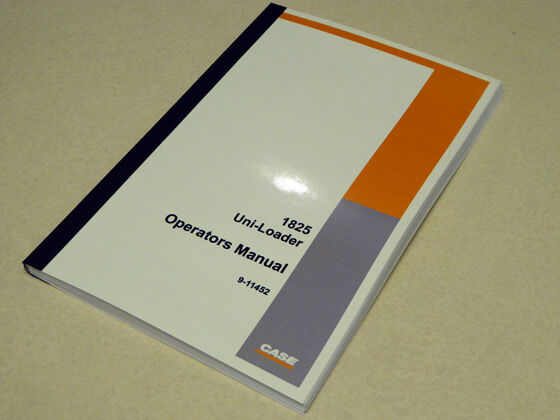 case 1825 uni loader skid steer owners operators manual maintenance rh ebay com