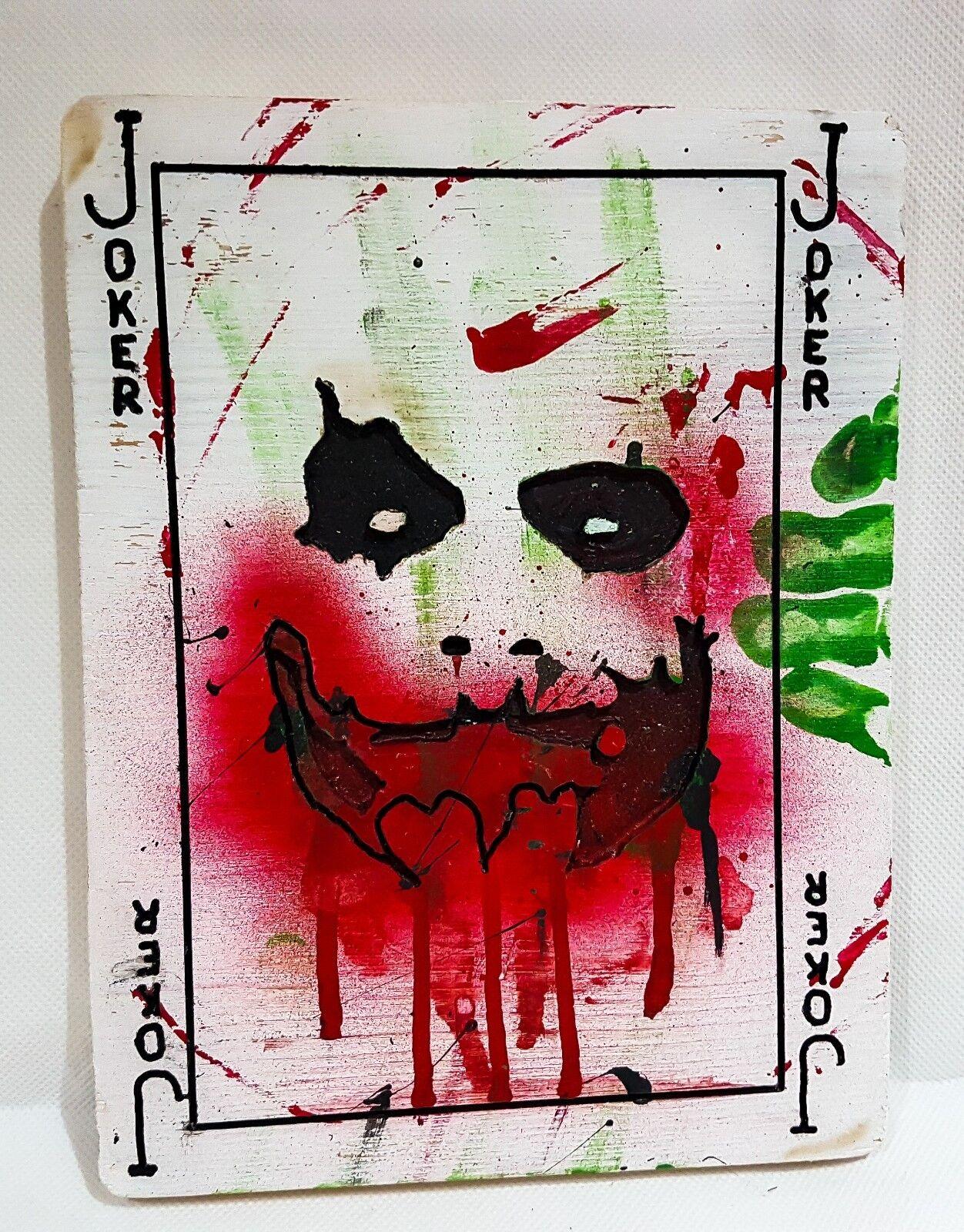 Handmade Batmans Joker Playing card Wooden Sign