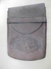 27395 Zigarrenetui Vint cigar box Genfer Verband 1925 Leder Gastwirte leather