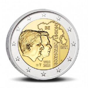 Coincard 2 Euros Commémorative Belgique Union Economique 2021