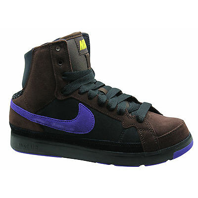 Nike Air Troupe Mid Baskets Pour Femme Chaussures Bottes Cuir Brun 324922 251 D1