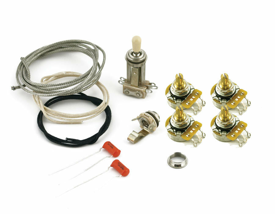 Gibson Les Paul Special JR Premium Wiring Kit Switchcraft, CTS 550k, Orange drop