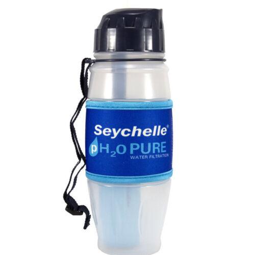 Seychelle pH2O bottiglia di acqua pura filtrazione con filtro avanzato pH alcalino