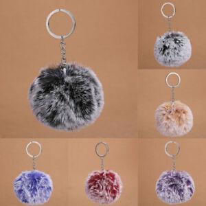 Plush-Ball-Pendant-Keychain-Key-Ring-Pretty-Women-Bag-Car-Key-Chic-kCzMt