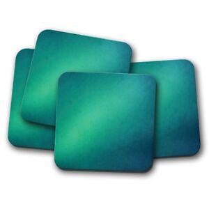 4-Set-Blue-Green-Ombre-Coaster-Aurora-Teal-Colour-Sky-Ocean-Sea-Gift-14991