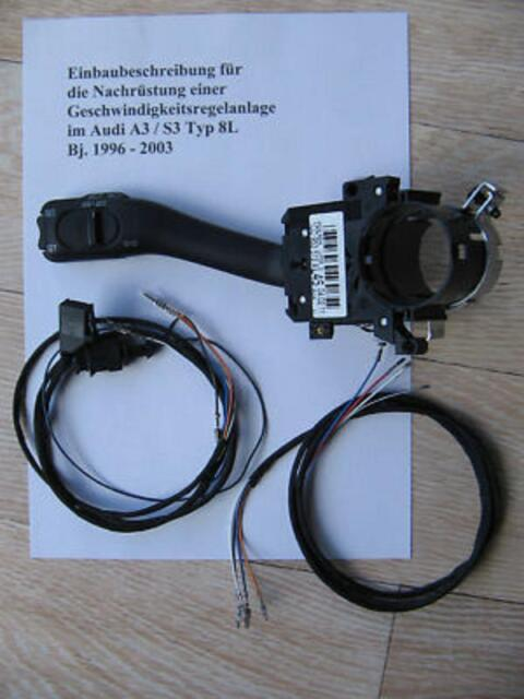 Cruise Control Gra Retrofit Kit with Connecting Cable for Seat Leon 1M Petrol