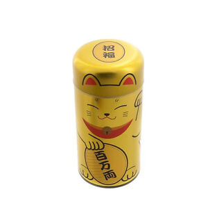 Box-Tea-Chazutsu-Cat-Japanese-Maneki-Neko-Made-in-Japan-Golden-294
