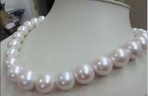 Stunning-AAA-15mm-real-natural-south-sea-white-round-pearl-necklace-14k-18