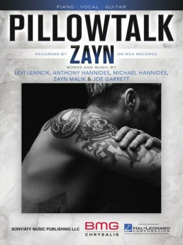 Pillowtalk Sheet Music Piano Vocal Book Zayn Malik NEW 000160287