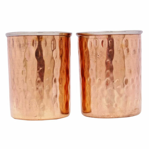 Straight Tumbler Glass Kitchenware Tableware India Copper Steel Utensils 1 Pair