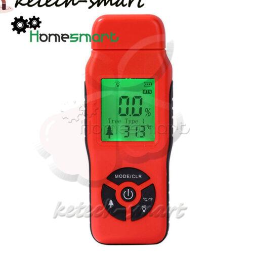 NEW LCD Digital Wood Moisture Meter Plywood Wood  Humidity Tester Detector L2KS