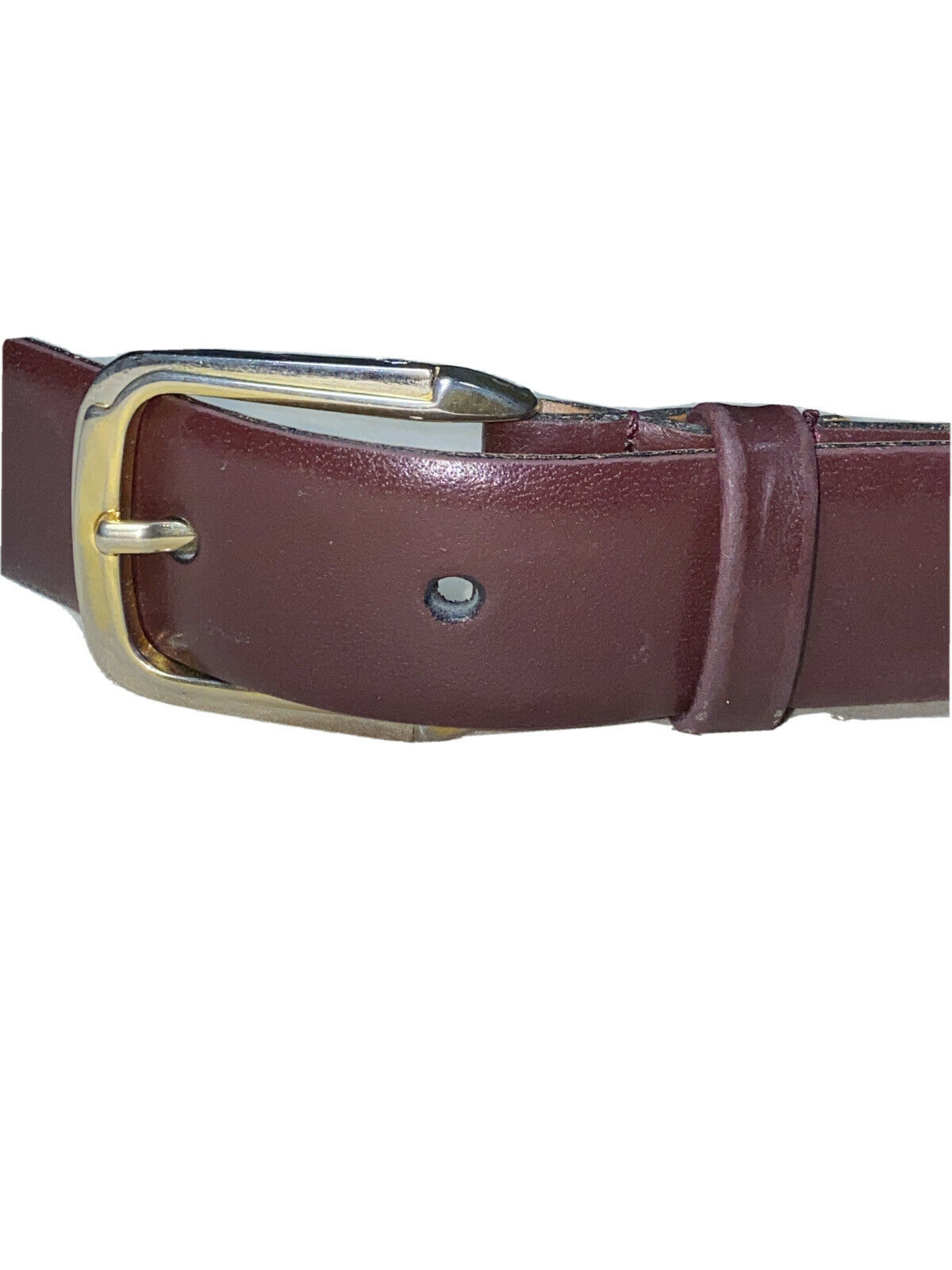 Christian Dior Made In Spain Split Leather Brown Belt Size 80/32