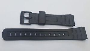 BRACELET-MONTRE-18mm-PVC-NOIR-CASIO-BOUCLE-PLASTIQUE-Ref-mo1