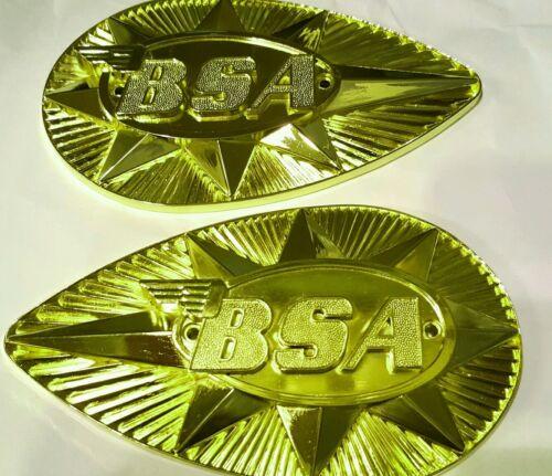 BSA A50 A65 B44 B25 FUEL - PETROL TANK BADGES PEAR SHAPED 1968-70 82-9695/97