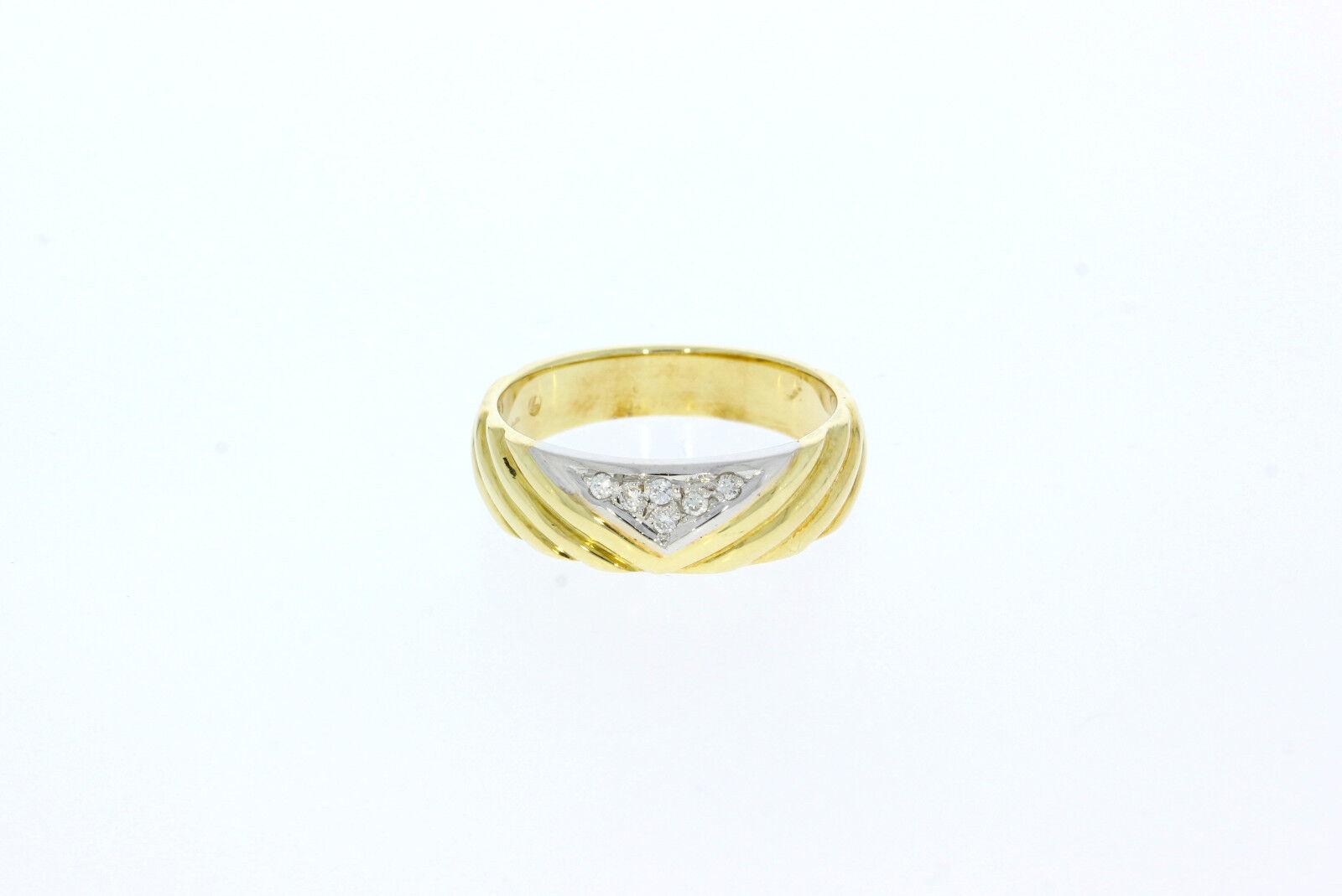 A0570-585er yellowgoldring m Brillianten Ringgroße 55 Gewicht 5 Gramm