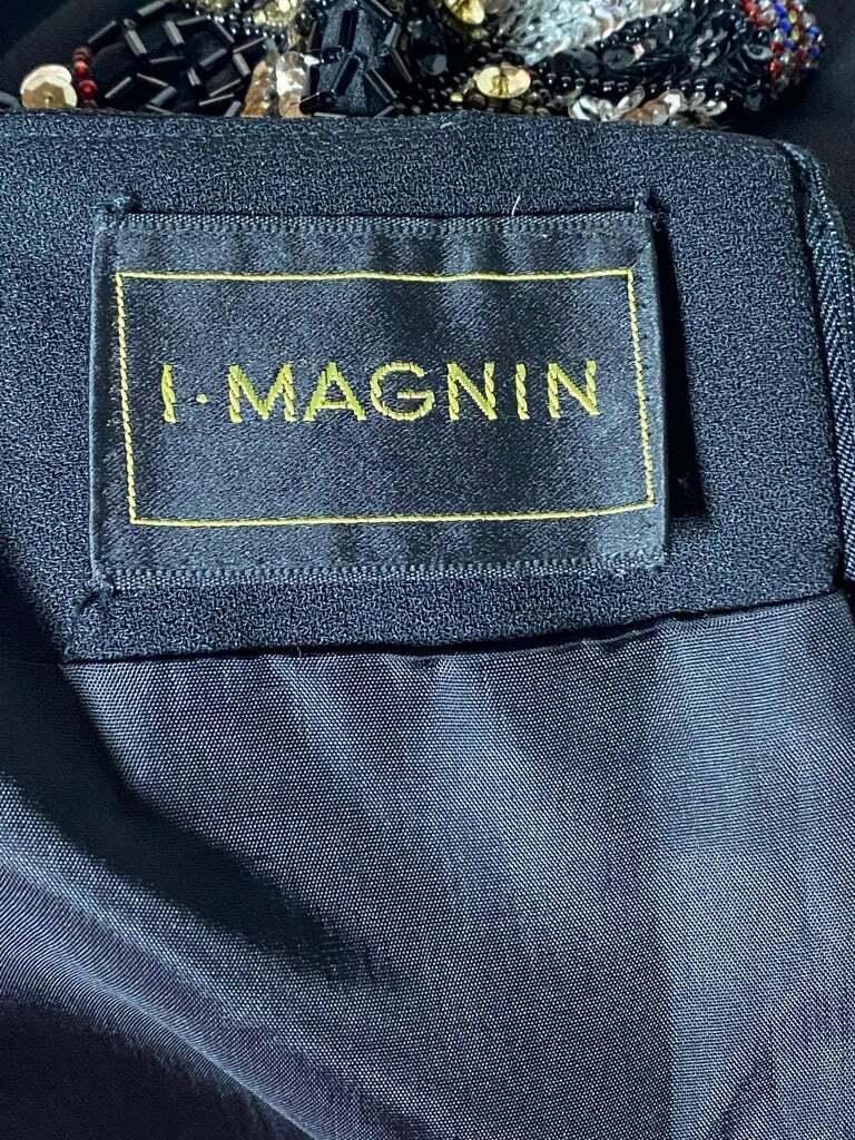 I. Magnin Black Mini Evening Dress - image 5