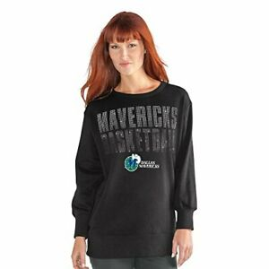 NBA-Dallas-Mavericks-Women-039-s-Showtime-Pullover-Sweater-X-Large-Black